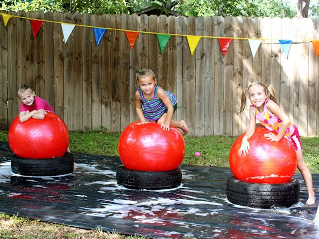 3 awesome birthday party ideas! Wipeout, Transportation, and Outdoor Bowling