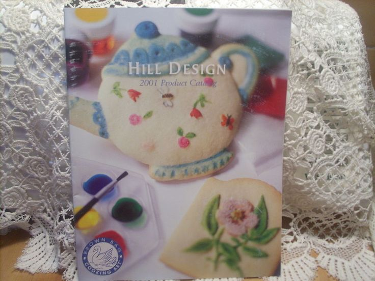 """Brown Bag Cookie Mold/Stamp-2001 HILL DESIGN PRODUCT CATALOG-LARGE 8 1/2""""x11"""""""
