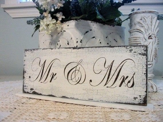 Sign for the sweetheart table, put in front of vase to hold bouquet so you have a cute sign and pretty flowers!! Perfect touch!!