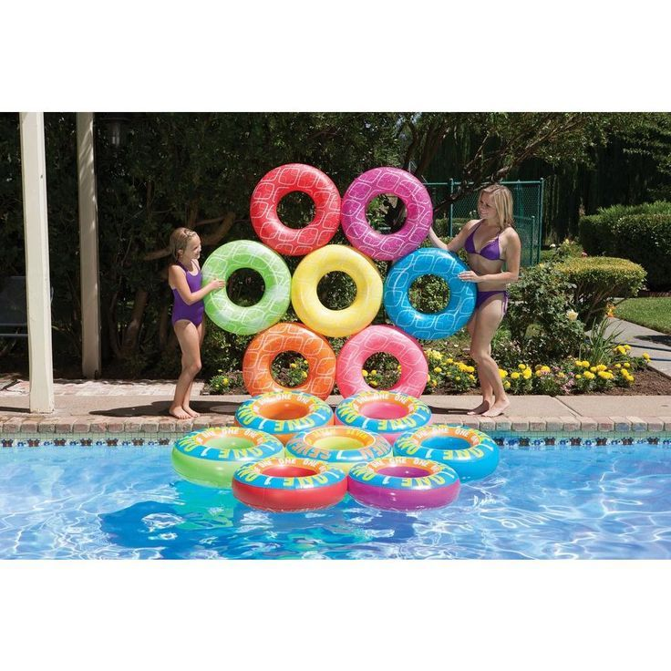 Poolmaster Ring A Ding Ding Island Lucky 7 Swimming Pool Game 83671 Fairy Garden Party Pool Toys Pool Games