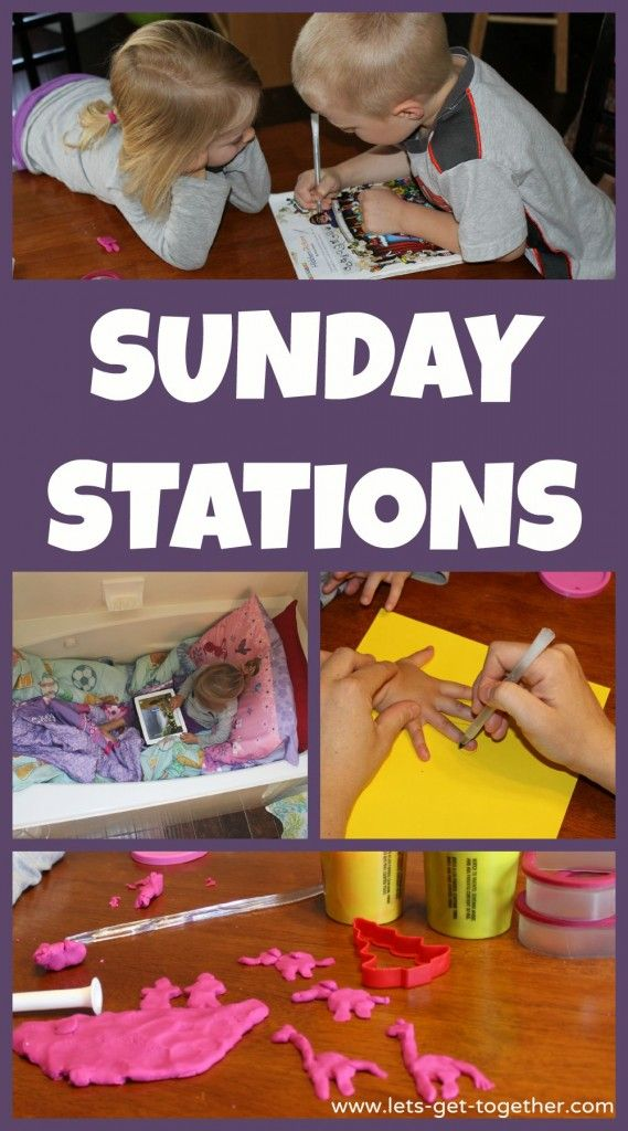 Sunday Stations - great way to keep your kids (little or big!) busy and learning on Sundays before or after church. Includes great giveaway of Finch Family Games books! #fhe #lds #sabbathday