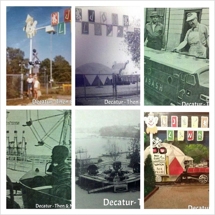 The days of Joyland in Decatur, IL. It was located in Nelson Park. I remember as a child getting stuck in the Ferris Wheel. Wow the bumper cars what fun. Photo Courtesy of Laine Henson Decatur Then and Now