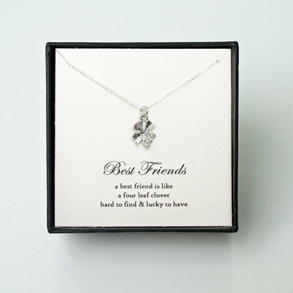 Best Friend Gift  Silver Four Leaf Clover by KandAJewellery