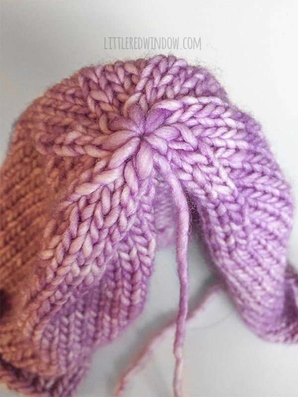 Easy Knit Flat Baby Hat Knitting Pattern  3e9305f6add