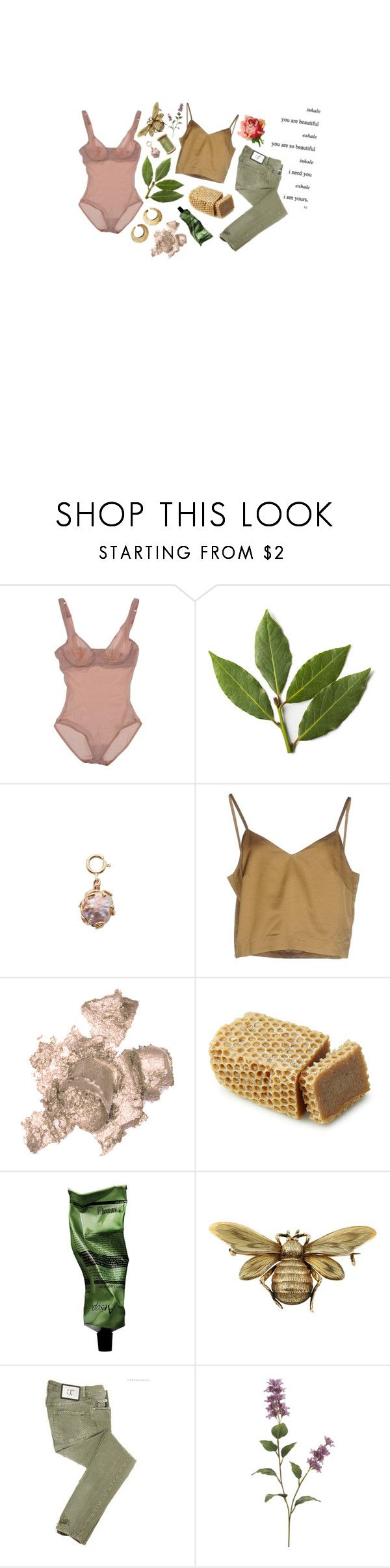 """""""i fall in love with imaginary people"""" by cliffordcoffee ❤ liked on Polyvore featuring Wolford, Sharon Khazzam, Erika Cavallini Semi-Couture, By Terry, Aesop and Just Cavalli"""