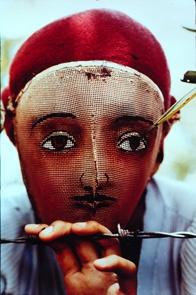 Fencing Mask before it was foiled  Susan Meiselas, Nicaragua