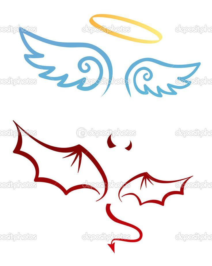 Descargar - Ángel y demonio — Ilustración de stock #14057748