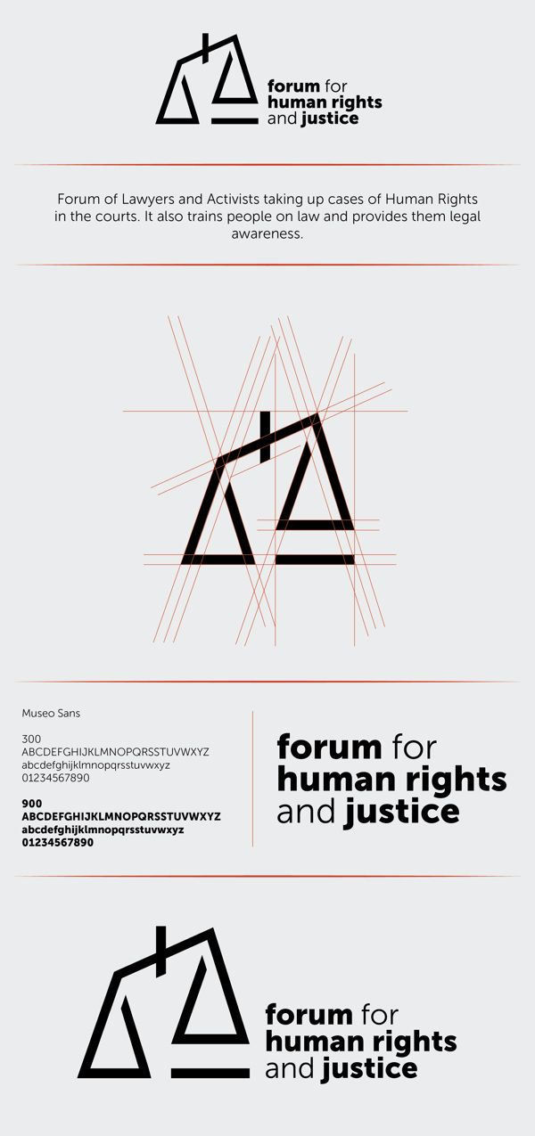 Forum for Human Rights and Justice | Identity Design by Sidharth Singh, via Behance
