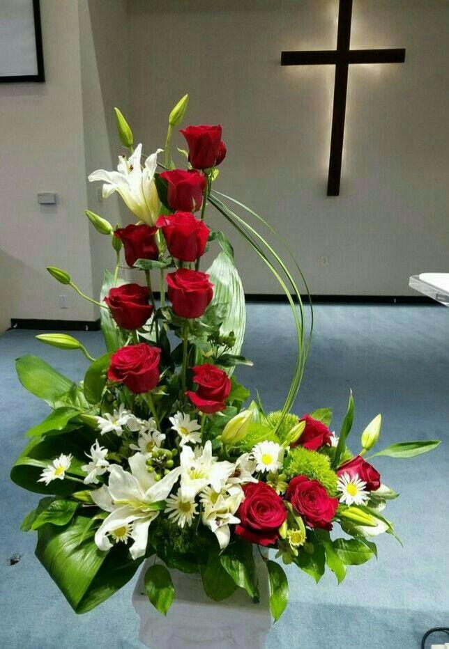 Best images about flower arrangement church on