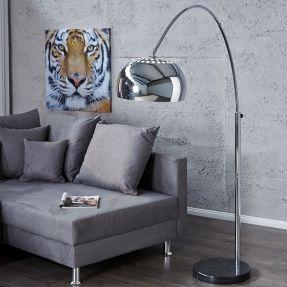 Bogenlampe LUXX Chrom glänzend 170 210cm Höhe portofrei günstig