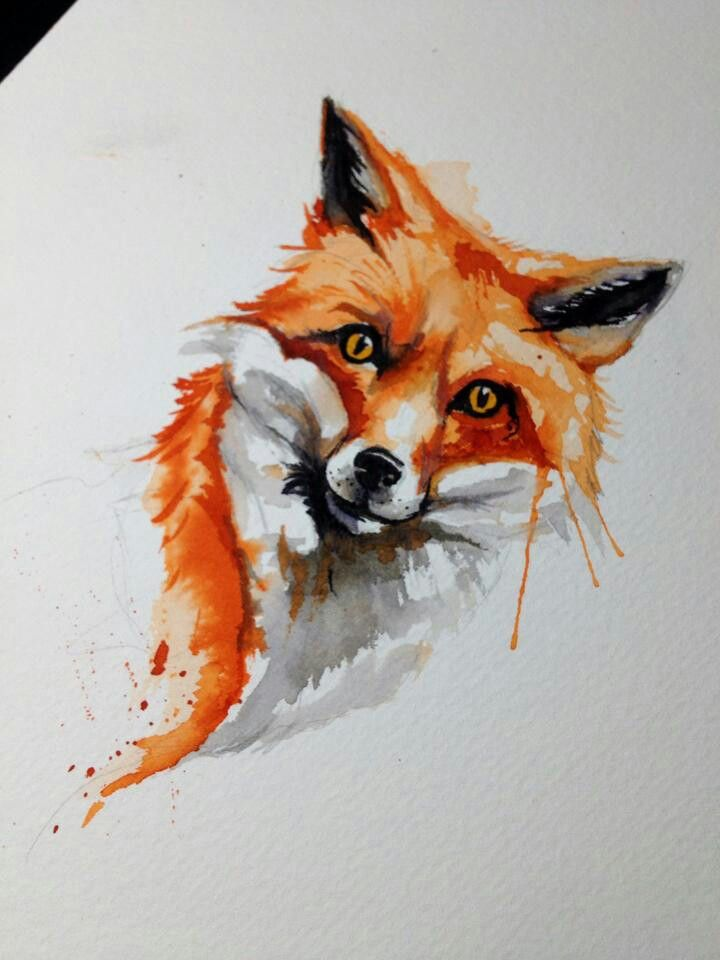 This is apparently my spirit animal & if i were going to get that tattooed somewhere, this would be a possible design. Fox tattoo @Annie Compean Compean