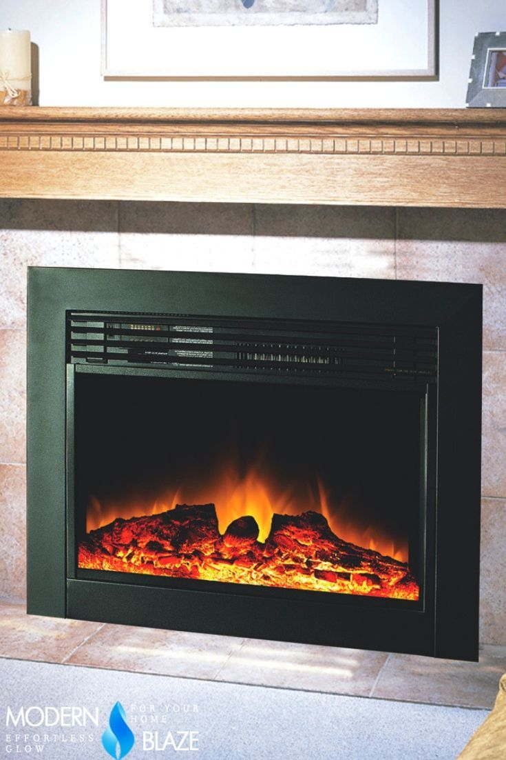 Perfect Electric Insert To Replace Your Gas Log Set Or A Wood Fireplace For Modern Electric Fireplace Electric Fireplace With Mantel Indoor Electric Fireplace