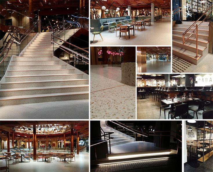Hesselberg Bygg AS har levert Steno Terrazzo gulv til Paléet kjøpesenter i Oslo