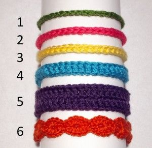 6 easy crochet newborn headbands (but can be done for all ages) from Charmed By Ewe blog.