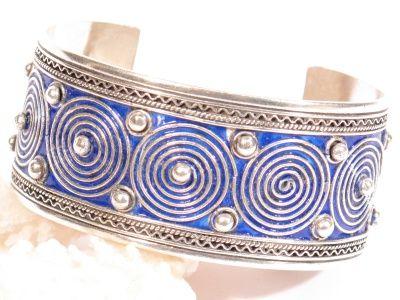 Bracciale in argento e smalti-Gioielli Etnici-Atlantide