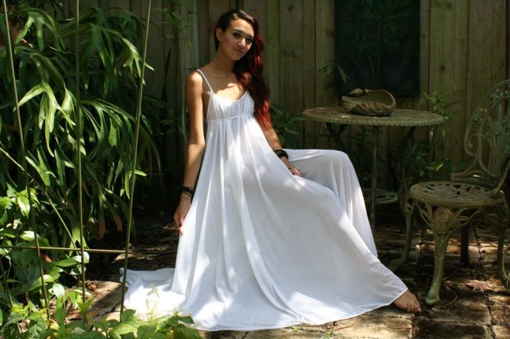 Grecian Goddess Bridal Nightgown Wedding Lingerie.