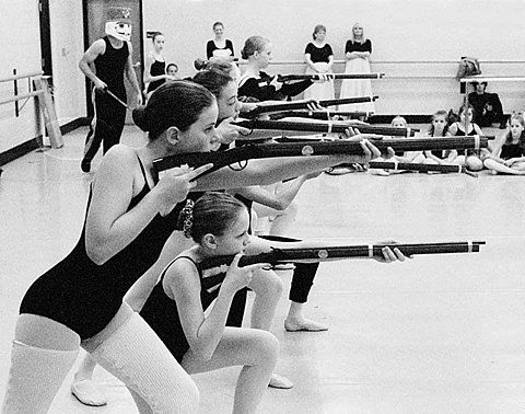 "I've hard of ""gun ballet"" but this is crazy..."