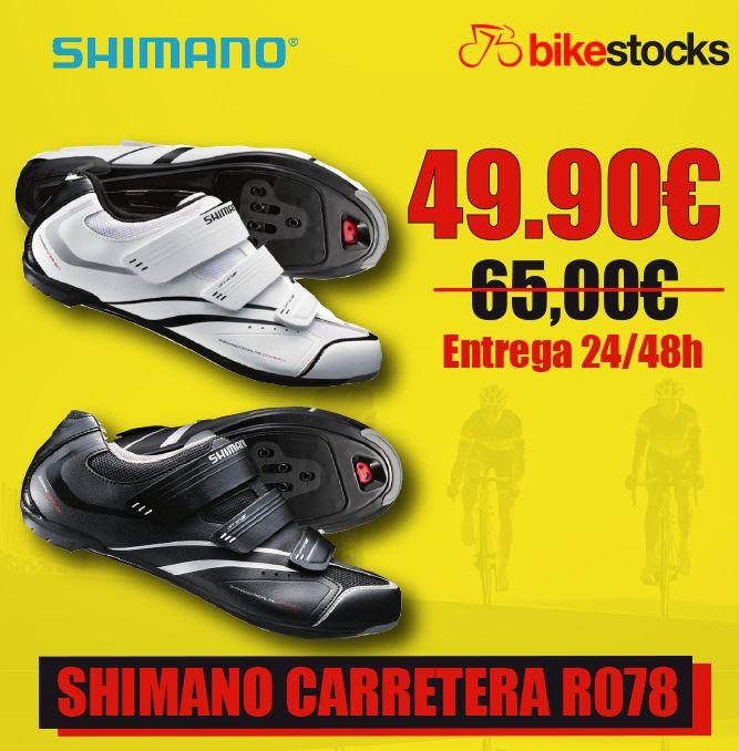 ZAPATILLAS SHIMANO CARRETERA R078 con diferentes características que mejorarán tu rendimiento. Cuenta con: ✔la tecnología Shimano Dynalast ✔3 bandas de cierre ✔suela reforzada con fibra de vidrio ✔parte superior de malla/sintética transpirable.  ¿A qué esperas? pillate las tuyas ya: ➡http://bit.ly/1lKHQkh  #bikestocks #bici #bicicleta #ciclismo #ciclista #ciclistas #carretera #zapatillas #shimano #R078