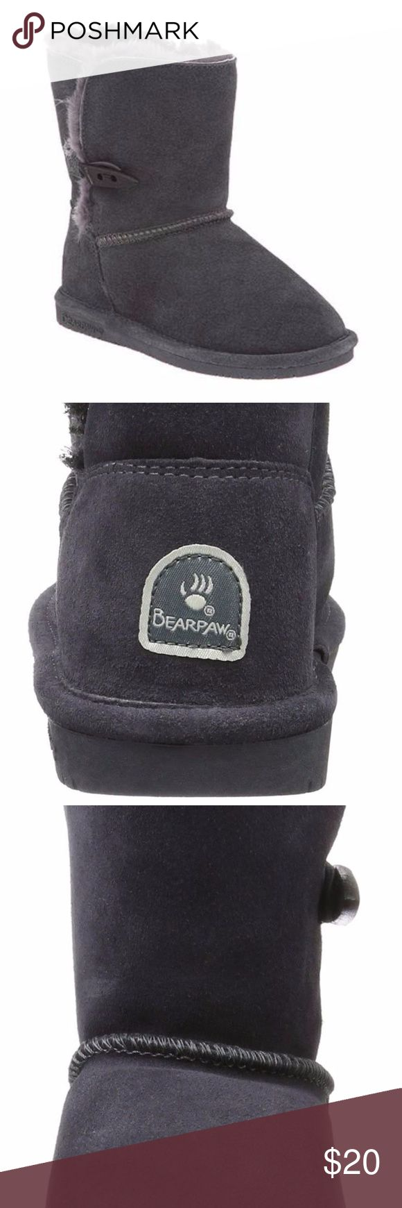 ❄️BearPaw Boots New W/O the tags. Soft and fuzzy on the inside. These have never been worn. Offers welcome but no trades. BearPaw Shoes Winter & Rain Boots