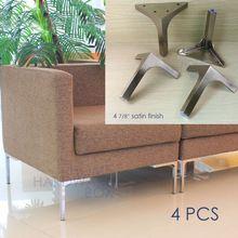 12 cm fém asztal irodabútor kanapé lába láb szatén rozsdamentes acél tér 4x (Kína (szárazföld))