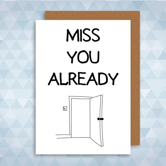Miss You Already Greetings Card. Leaving New Job by LazyMice