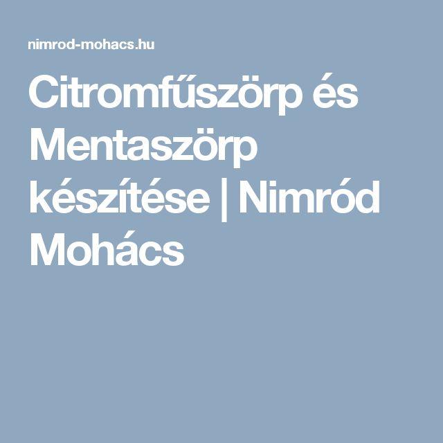 Citromfűszörp és Mentaszörp készítése   Nimród Mohács