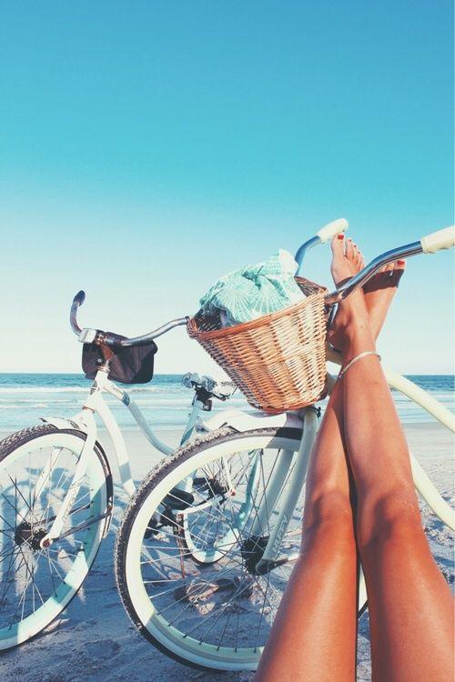 Beach, bike
