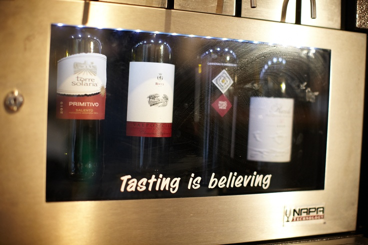 Try before you buy... a bottle. Wine available by the glass and as a sample at LIVIN'Italy