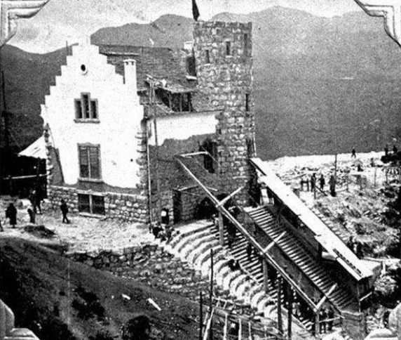 Monserrate - 1929 - (Construcción de la Estación del Funicular) - Vía @BogotaAntigua
