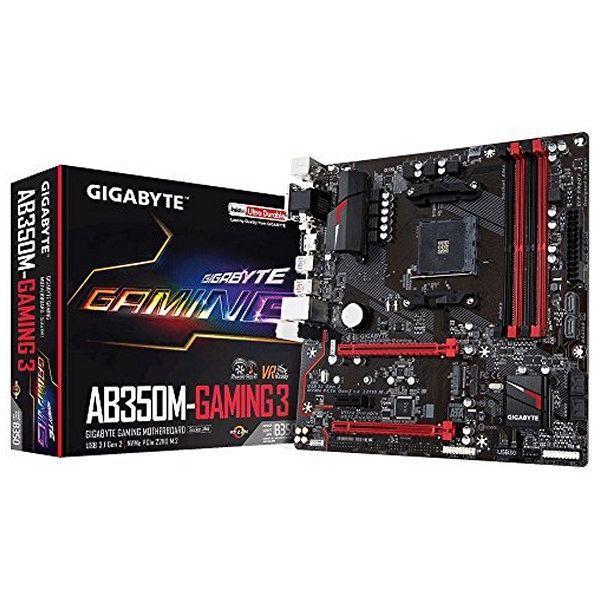 Scheda Madre Gaming Gigabyte GA-AB350M Gaming 3 mATX AM4  92,76 € Se sei un appassionato d'informatica ed elettronica, ti piace stare al passo con la più recente tecnologia senza lasciarti sfuggire nessun dettaglio, acquista Scheda Madre Gaming Gigabyte GA-AB350M Gaming 3 mATX AM4al miglior prezzo.Gigabyte GA-AB350M-Gaming 3, DDR4-SDRAM, DIMM, 2133,2400,2933,3200 MHz, Doppio, 64 GB, AMDTipi di memoria supportati: DDR4-SDRAMtipo di slot di memoria: DIMMVelocità di memoria supportate…