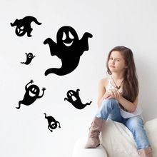 Halloween Party Украшения DIY Стикер Стены ПВХ 3D Призрак Стены Стикеры для Дома…