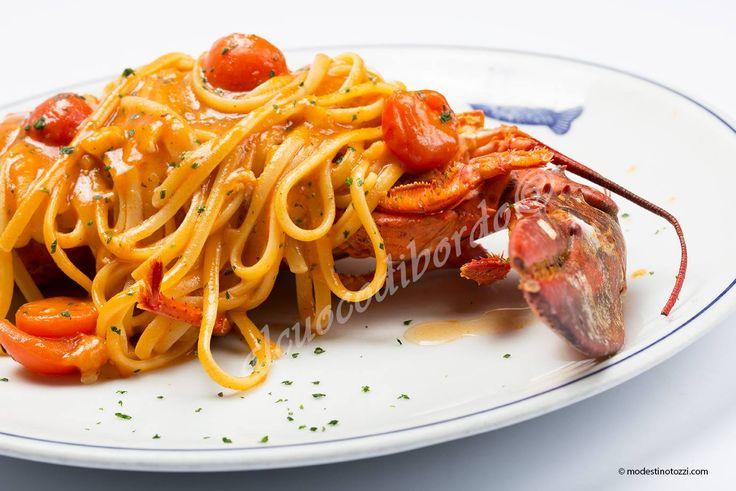 """linguine all'astice del ristorante """"Al Cuoco di Bordo"""" a Milano. Da provare, sono mitiche posso assicurarvelo."""