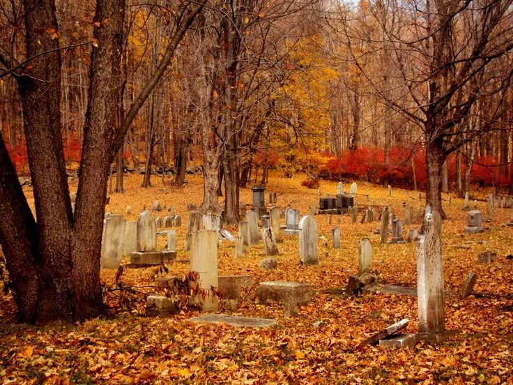 Cemetary in the Fall.