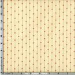 Andover Fabric: Mill Run Shirtings, Line Dot Red on Cream (per 1/4 metre)