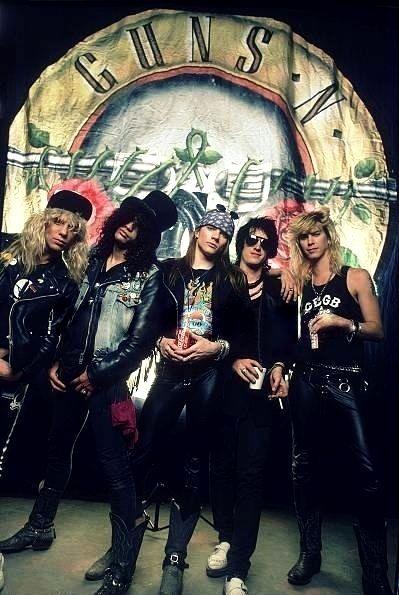Steven Adler Slash Axl Rose Izzy Stradlin Duff Mckagan