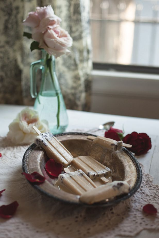 An Edible Flower Collaboration with Luna Moss: Creamed Honey & Rose Popsicles
