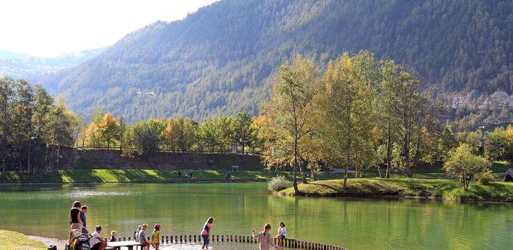 Badesee Ried im Herbst #tiroleroberland