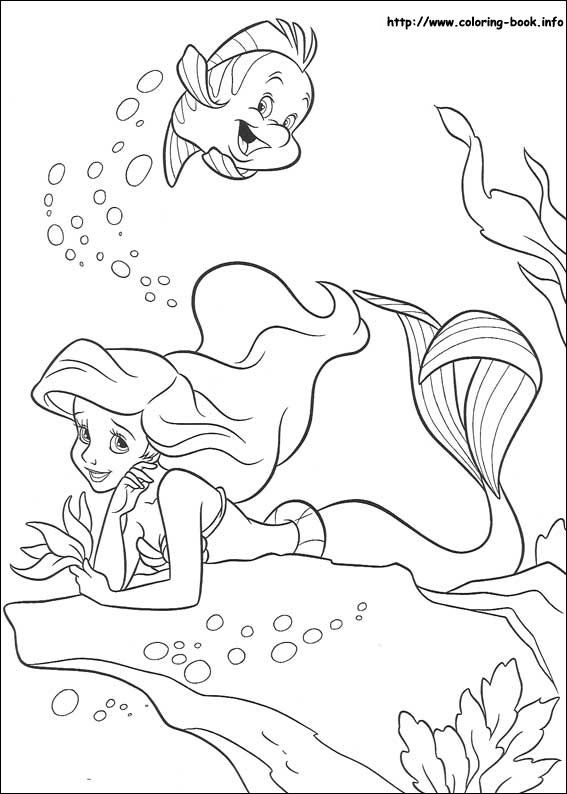 The Little Mermaid Coloring Picture Book InfoColoring