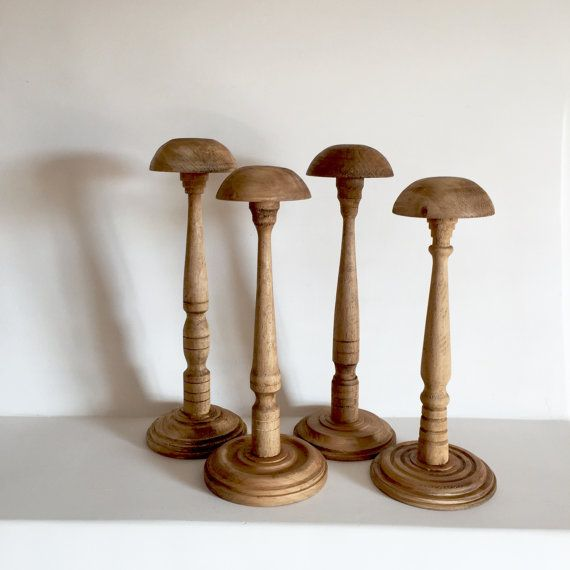 French Antique Wood Hat Stand  Millinery Stand  by LaVieEnPastis