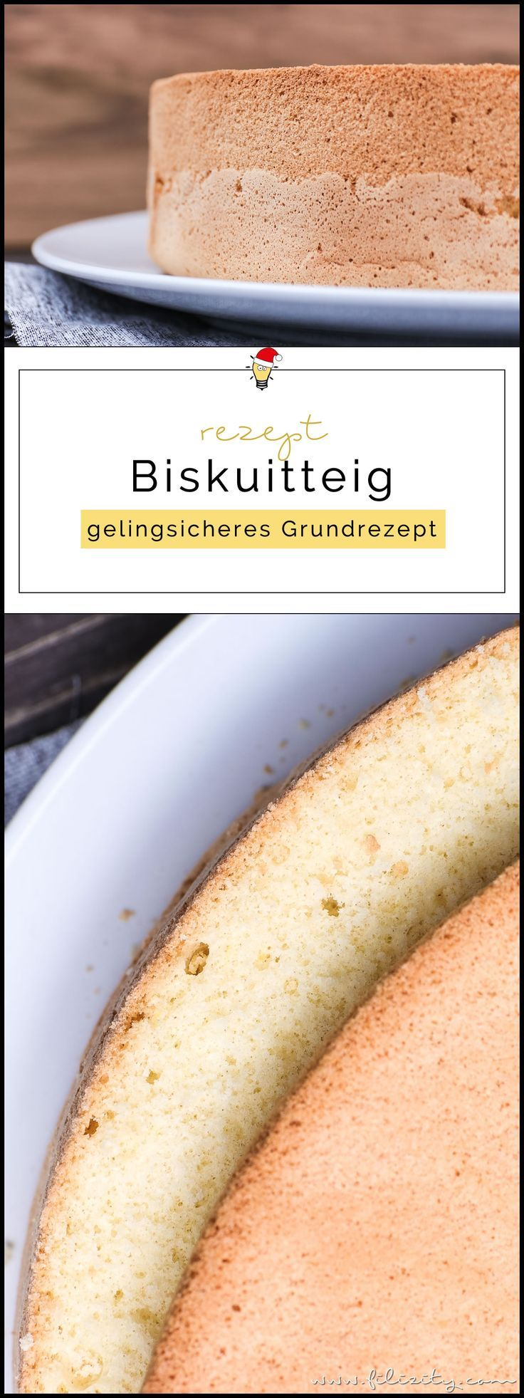 Gelingsicheres Biskuitteig Rezept für Torten & Desserts   Filizity.com   Food-B…