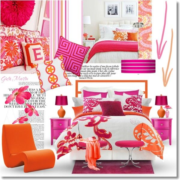 21 best orange and pink bedroom images on Pinterest | Bedroom ideas ...