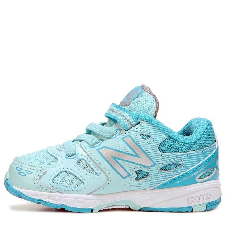 New Balance Kids' KA680 Medium/Wide/X-Wide Sneaker Baby/Toddler Shoes (Blue/White Leather)