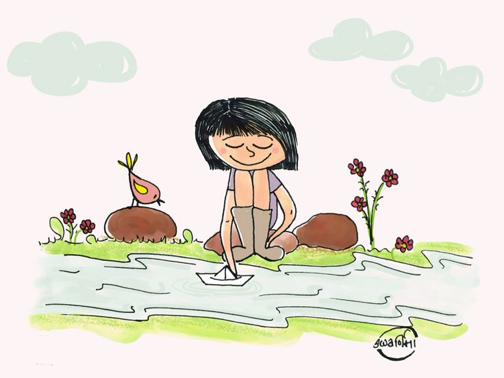 Be like water, soft and limpid, it finds it way through, over or under any obstacle, sometimes traveling underground for great distances before emerging into the open. It does not quarrel; it simply moves on - Lao Tzu #illustration #doodle #girl #littlegirl #itsahappyworld #laotzu
