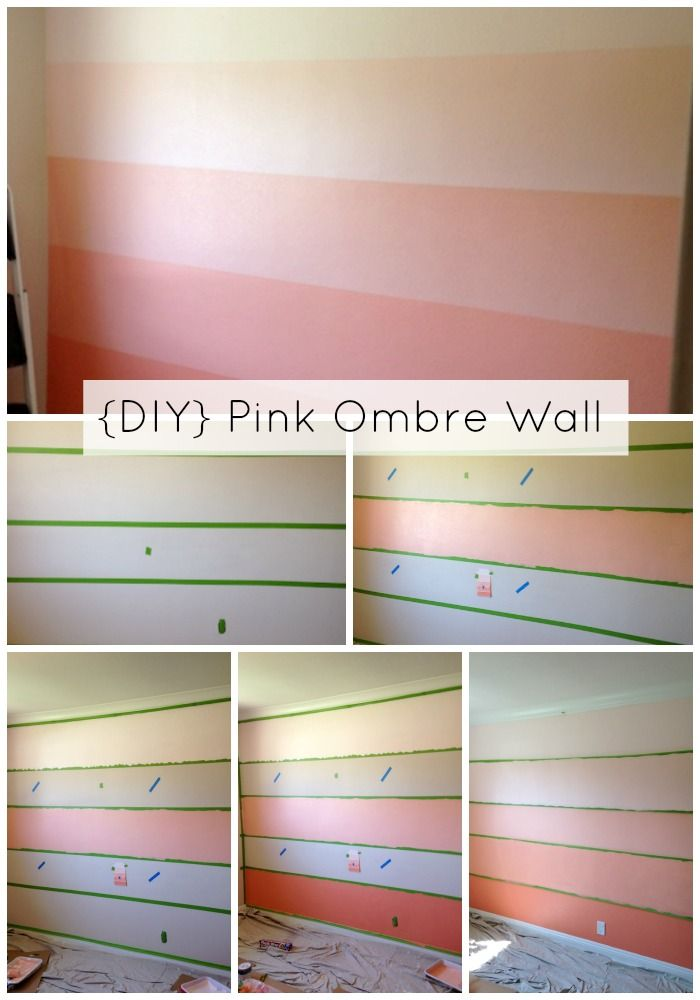 DIY Pink Ombre Wall, perfect for a nursery!