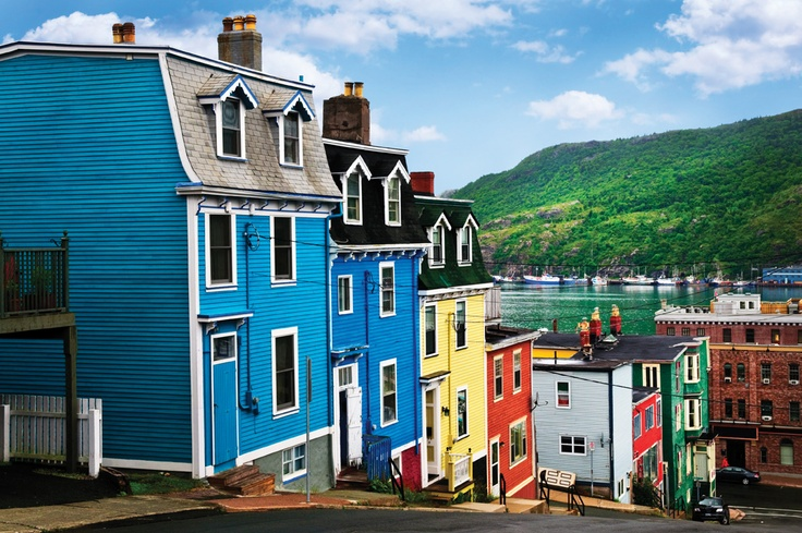 Colourful houses in St. John's Newfoundland (I have my own picture of this exact shot up in my living room, ha)