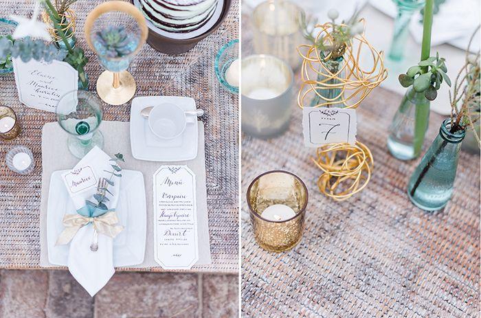 Hochzeit in Grün, Gold und Türkis | Friedatheres.com