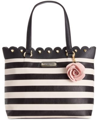 Betsey Johnson Scalloped Tote | macys.com