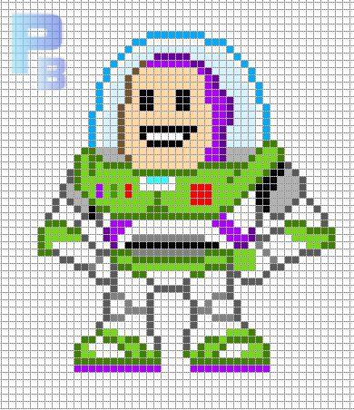 Buzz Lightyear Toy Story perler pattern - Patrones Beads / Plantillas para Hama