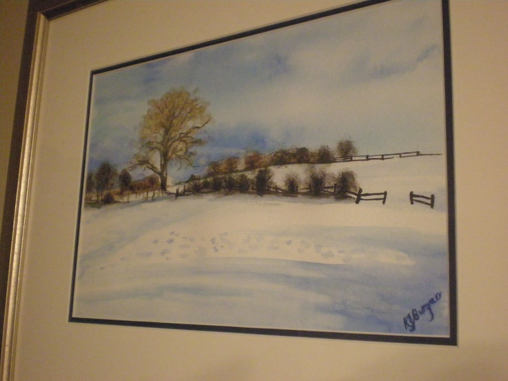 watercolour ( in the snow)