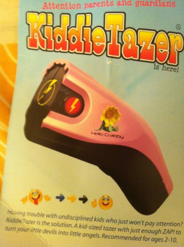WTF Gadget of the day – Kiddie Tazer, the taser for difficult children | Ufunk.net